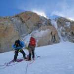 Absailing of Chere couloir