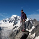 Aiguille du Moine - Nils on the summit