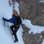Colin in Japanese Couloir. I think the picture is a bit tilted