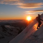 Sunrise on Barre des Ecrins