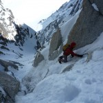 Mix on the upper part of Lagarde. Photo: Colin Haley