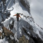 Breithorn Travers - exposed