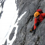 Drømmediederet - first pitch with crampones
