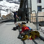 Drying gear back at Eigergletscher