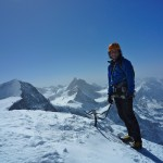 Colin on the summit of Eiger