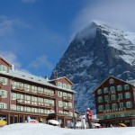 Eiger seen from Kleine Scheidegg. Picture from February
