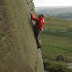 Nils on Stanage. Photo: Christian Evensen