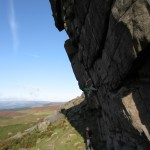 Nils on The Rasp at Higgar Tor. Photo: Christian Evensen