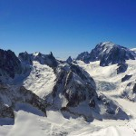 Mont Blanc massif from summit of Courtes