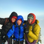 Ida, Hans and me on summit of Mont Blanc