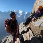 Richart and Erik enjoying the sun on the South ridge of Aig. de l&#039;Index