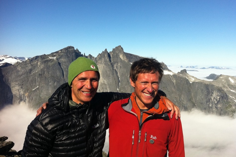 Jens Stoltenberg and me on Romsdalshorn