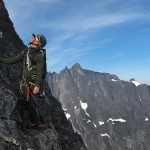 Romsdalshorn Nordveggen - Anders climbing