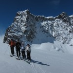 Schwarztor with Roca Nera and the Breithorn twins behind