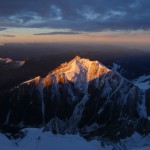 Sunrise on Aiguille de Tre-la-Tete