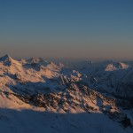 Sunset from Rifugio Guide Val d'Ayas
