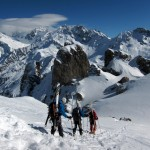 Traversing to Col des Chasseurs