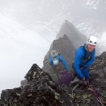 Vengetind Drmmediederet - Steinar on the last belay