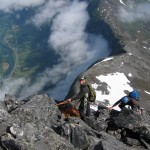 Anders guiding on Romsdalshorn