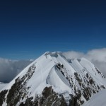 Breithorn Traverse - looking towards the central and main summit