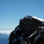 Climbers on the summit of Ailefroide Orientale
