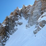 Cunningham seen from the top of Exit couloir