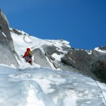 The first technical pitch on Ginat. Photo: Colin Haley
