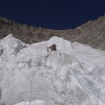 Scary down-climbing