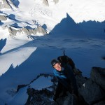 Kjetil climbs out of the shade