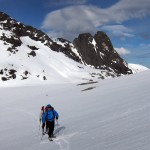 Kvanndalstind - approach with skis