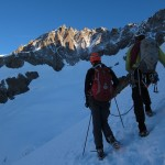 Looking at the Ailefroide traverse