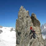 Climbing on Aiguille d' Entreves