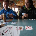 Playing card on Tête Rousse hut