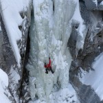 Neil Mcadie on Sabotørfossen in Rjukan