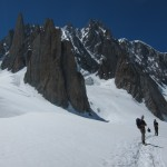 On the way to Torino hut after Pyramide du Tacul