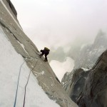 Slab climbing with crampons