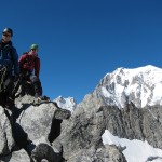 Starting the Entreves traverse